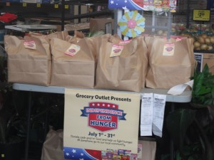 Grocery Outlet hosted a food drive to support Newberg FISH